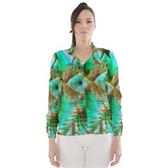 Spring Leaves, Abstract Crystal Flower Garden Wind Breaker (women) by DianeClancy