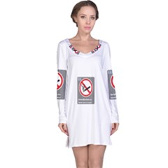 No Smoking  Long Sleeve Nightdress