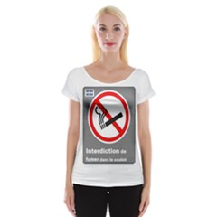 No Smoking  Women s Cap Sleeve Top