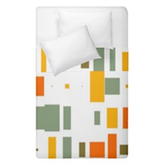 Rectangles And Squares In Retro Colors   Duvet Cover (single Size) by LalyLauraFLM