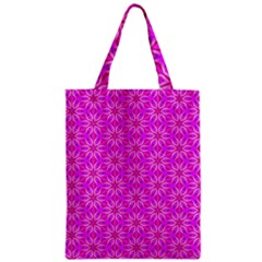 Pink Snowflakes Spinning In Winter Zipper Classic Tote Bag by DianeClancy