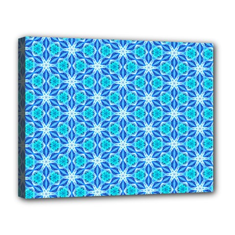 Aqua Hawaiian Stars Under A Night Sky Dance Canvas 14  X 11  by DianeClancy
