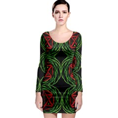 Venus Rotation Long Sleeve Bodycon Dress by MRTACPANS