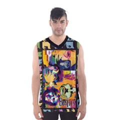 Beatles Men s Basketball Tank Top by DryInk