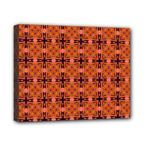 Peach Purple Abstract Moroccan Lattice Quilt Canvas 10  X 8  by DianeClancy