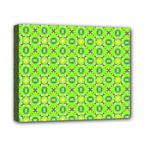 Vibrant Abstract Tropical Lime Foliage Lattice Canvas 10  X 8  by DianeClancy