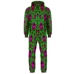 Fantasy Valentine In Floral Love And Peace Time Hooded Jumpsuit (men)