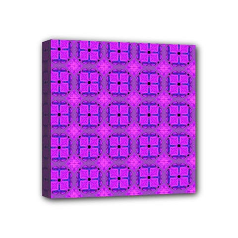 Abstract Dancing Diamonds Purple Violet Mini Canvas 4  X 4  by DianeClancy