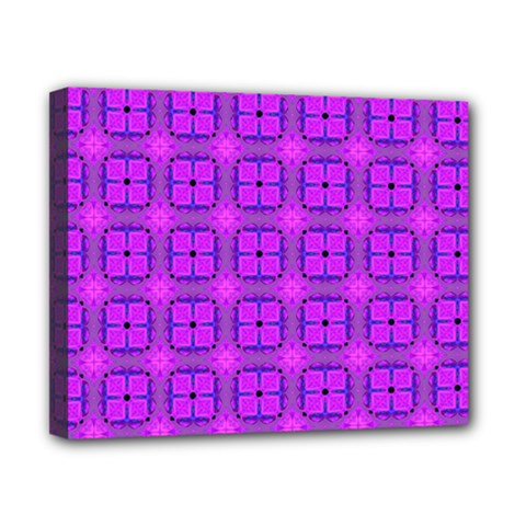 Abstract Dancing Diamonds Purple Violet Canvas 10  X 8  by DianeClancy