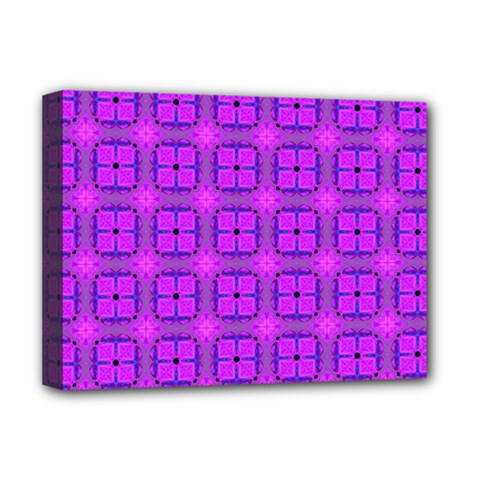 Abstract Dancing Diamonds Purple Violet Deluxe Canvas 16  X 12   by DianeClancy