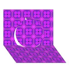 Abstract Dancing Diamonds Purple Violet Circle 3d Greeting Card (7x5)  by DianeClancy