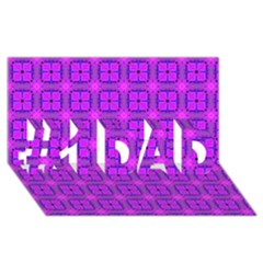 Abstract Dancing Diamonds Purple Violet #1 Dad 3d Greeting Card (8x4)  by DianeClancy