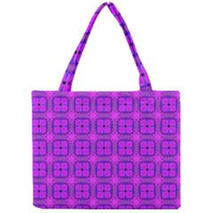 Abstract Dancing Diamonds Purple Violet Mini Tote Bag by DianeClancy