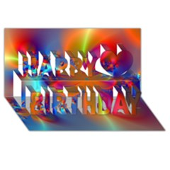 Bright Happy Birthday 3d Greeting Card (8x4)  by Delasel