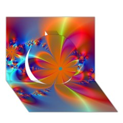 Bright Circle 3d Greeting Card (7x5)  by Delasel