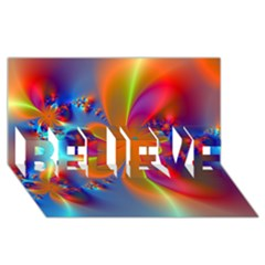 Bright Believe 3d Greeting Card (8x4)  by Delasel