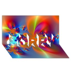 Bright Sorry 3d Greeting Card (8x4)  by Delasel