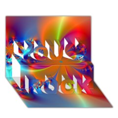 Bright You Rock 3d Greeting Card (7x5)