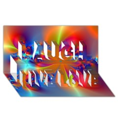 Bright Laugh Live Love 3d Greeting Card (8x4)  by Delasel