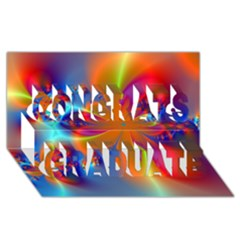 Bright Congrats Graduate 3d Greeting Card (8x4)  by Delasel