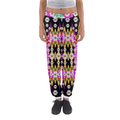 Flowers Above And Under The Peaceful Sky Women s Jogger Sweatpants