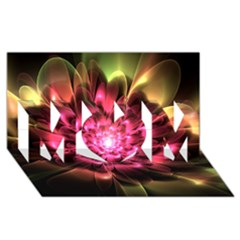 Red Peony Mom 3d Greeting Card (8x4)  by Delasel