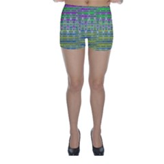Colorful Zigzag Pattern Skinny Shorts by BrightVibesDesign