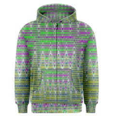 Colorful Zigzag Pattern Men s Zipper Hoodie by BrightVibesDesign