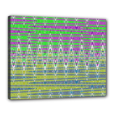 Colorful Zigzag Pattern Canvas 20  X 16  by BrightVibesDesign