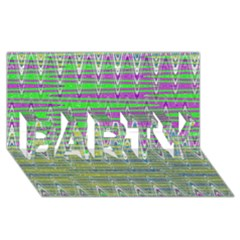 Colorful Zigzag Pattern Party 3d Greeting Card (8x4)  by BrightVibesDesign