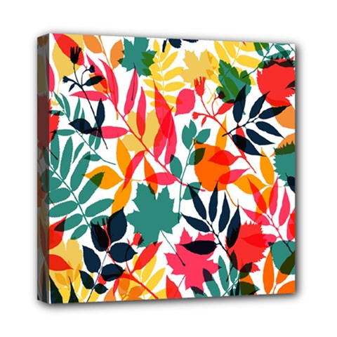 Seamless Autumn Leaves Pattern  Mini Canvas 8  X 8  by TastefulDesigns