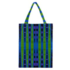 Blue Green Geometric Classic Tote Bag by BrightVibesDesign