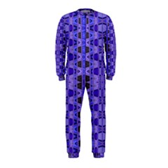 Blue Black Geometric Pattern Onepiece Jumpsuit (kids)