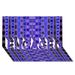 Blue Black Geometric Pattern Engaged 3d Greeting Card (8x4)