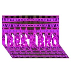 Bright Pink Black Geometric Pattern Best Bro 3d Greeting Card (8x4)