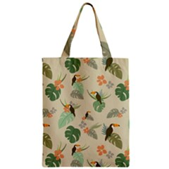 Tropical Garden Pattern Zipper Classic Tote Bag