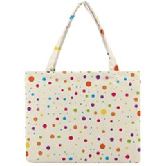 Colorful Dots Pattern Mini Tote Bag