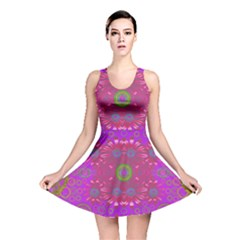 Steam Punk And Fauna In A Global Gathering Reversible Skater Dress