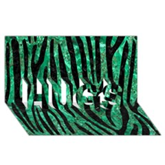 Skin4 Black Marble & Green Marble Hugs 3d Greeting Card (8x4)
