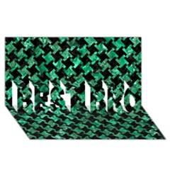 Houndstooth2 Black Marble & Green Marble Best Bro 3d Greeting Card (8x4) by trendistuff