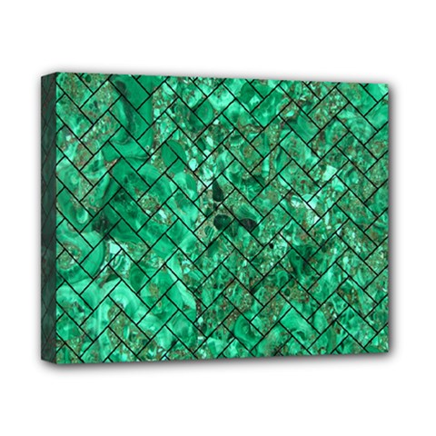 Brick2 Black Marble & Green Marble (r) Canvas 10  X 8  (stretched) by trendistuff