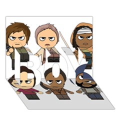 The Walking Dead   Main Characters Chibi   Amc Walking Dead   Manga Dead Boy 3d Greeting Card (7x5) by PTsImaginarium