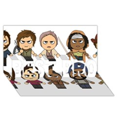 The Walking Dead   Main Characters Chibi   Amc Walking Dead   Manga Dead Best Bro 3d Greeting Card (8x4)  by PTsImaginarium