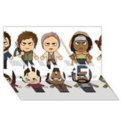 The Walking Dead   Main Characters Chibi   Amc Walking Dead   Manga Dead Engaged 3d Greeting Card (8x4)  by PTsImaginarium
