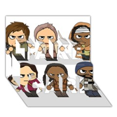 The Walking Dead   Main Characters Chibi   Amc Walking Dead   Manga Dead Take Care 3d Greeting Card (7x5)  by PTsImaginarium