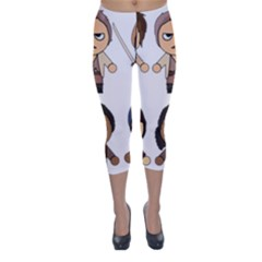 The Walking Dead   Main Characters Chibi   Amc Walking Dead   Manga Dead Capri Winter Leggings  by PTsImaginarium