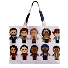The Walking Dead   Main Characters Chibi   Amc Walking Dead   Manga Dead Zipper Mini Tote Bag by PTsImaginarium