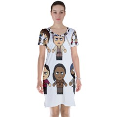 The Walking Dead   Main Characters Chibi   Amc Walking Dead   Manga Dead Short Sleeve Nightdress by PTsImaginarium
