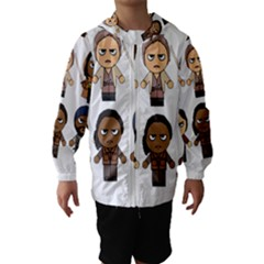The Walking Dead   Main Characters Chibi   Amc Walking Dead   Manga Dead Hooded Wind Breaker (kids)