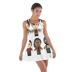 The Walking Dead   Main Characters Chibi   Amc Walking Dead   Manga Dead Racerback Dresses by PTsImaginarium